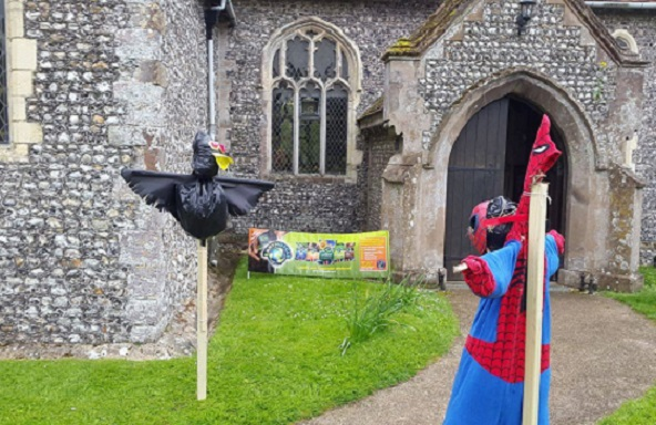 Oving Scarecrow Day in West Sussex 2016