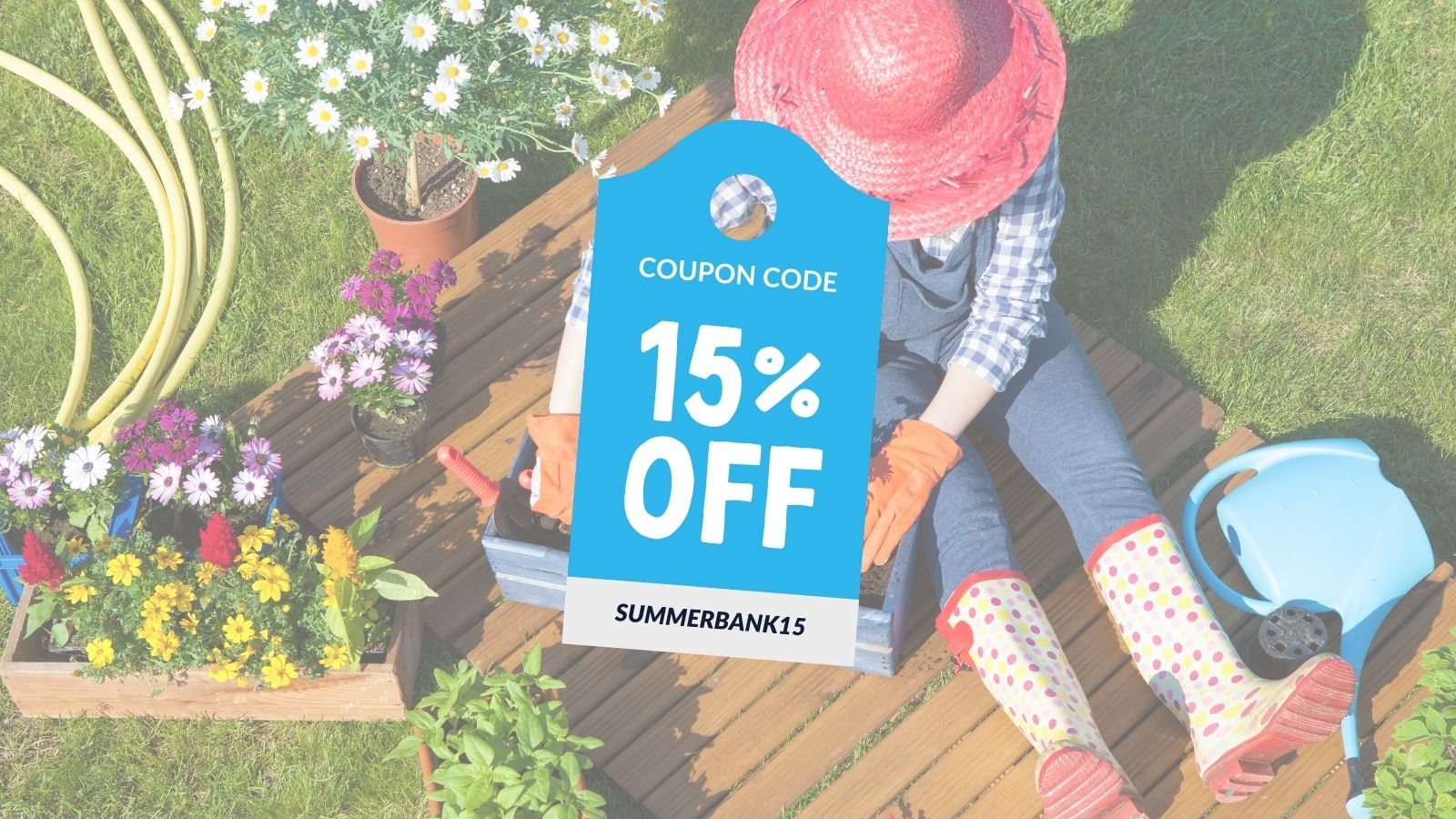 15% off our bestsellers this Summer Bank Holiday Weekend