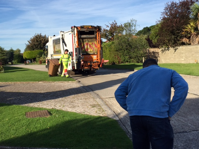 Behind the scenes on our green waste video shoot!